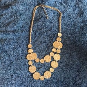 EUC rose gold coil double layer necklace w/extnder